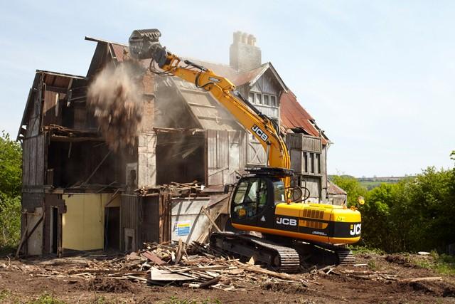 Jcb Demolishes Its Haunted House