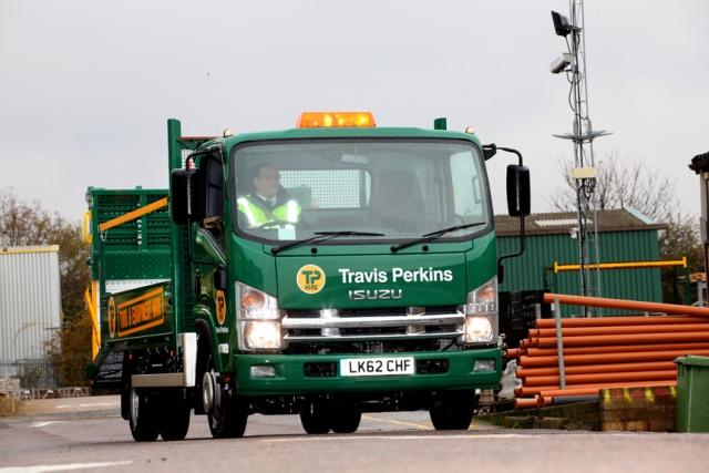 Isuzu five-tonne truck & Isuzu five-tonners fill the gap for Travis Perkins