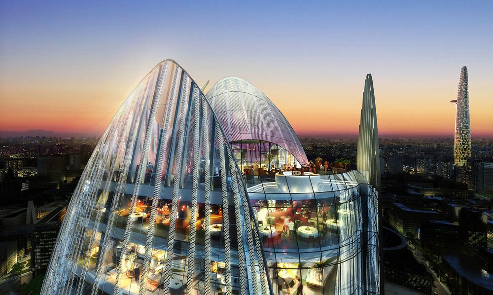 Atkins designs 36 storey hotel for ho chi minh city for Design hotel vietnam