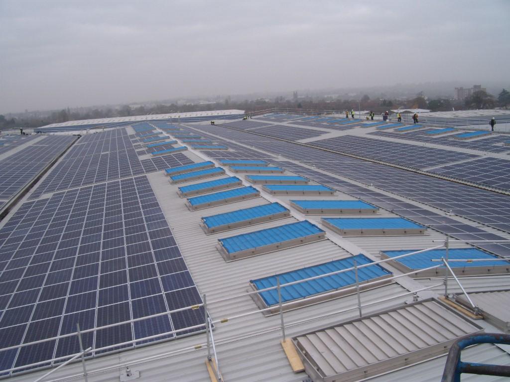 Wolseley Warehouse Roof Gets Uk S Largest Solar Installation