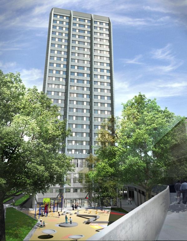 Rydon Lands 163 10m Tower Block Refurbishment