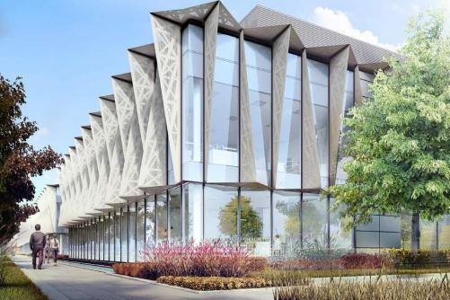 office facade. CGI Of ARM\u0027s New HQ At Peterhouse Technology Park Office Facade E