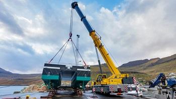 Faroe Islands fleet gets new Grove crane
