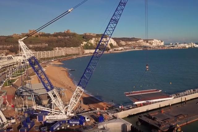 Video: Bridge and lock gates installed in Dover docks