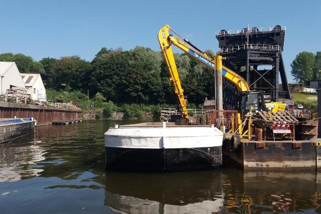 Land & Water hauls in dredging framework