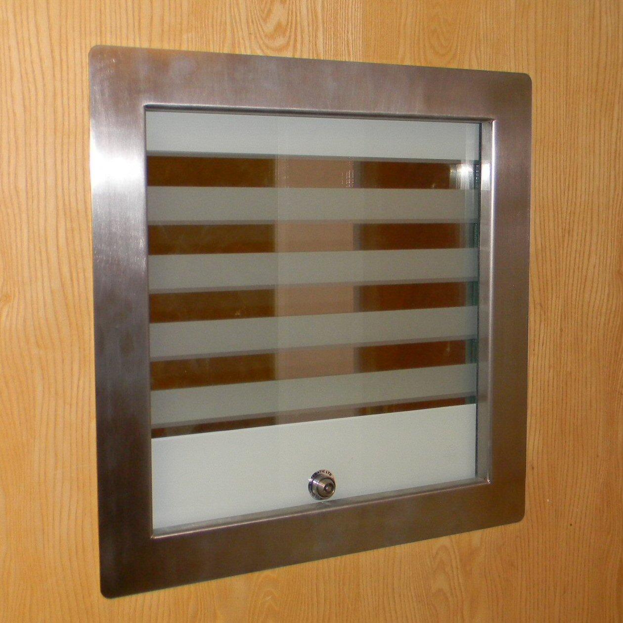 New vistamatic vision panel sets anti ligature standard for Door vision panel