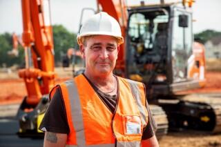 Machine operator John Ritchie