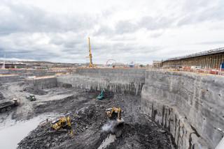 Deep excavation at Hinkley Point C