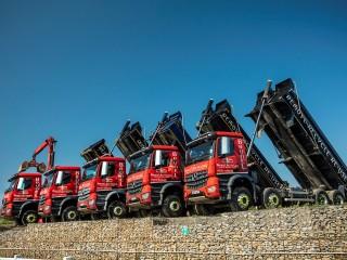 Brunel Recycling has six 32-tonne Mercedes-Benz lorries