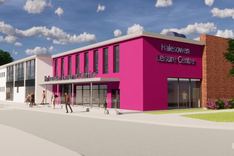 Artist's impression of Halesowen centre after the refurb (Roberts Limbrick Architects)