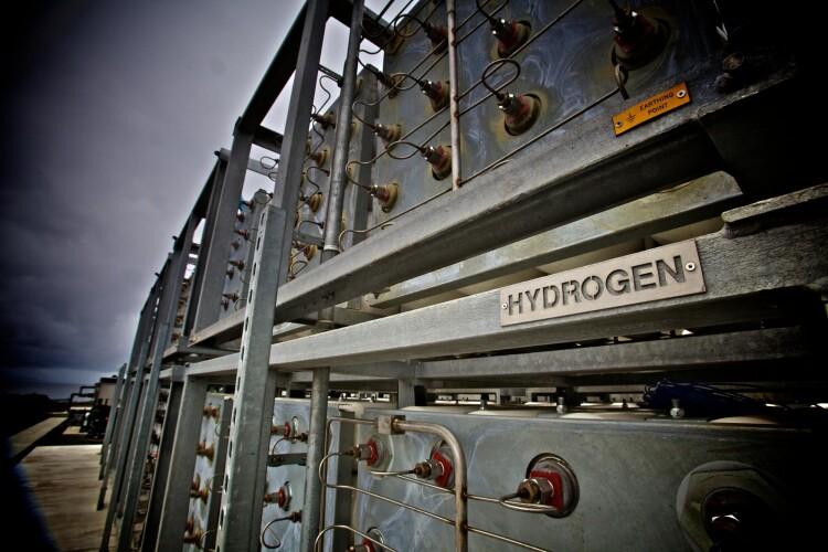 EMEC's hydrogen storage cylinders (photo by Colin Keldie)