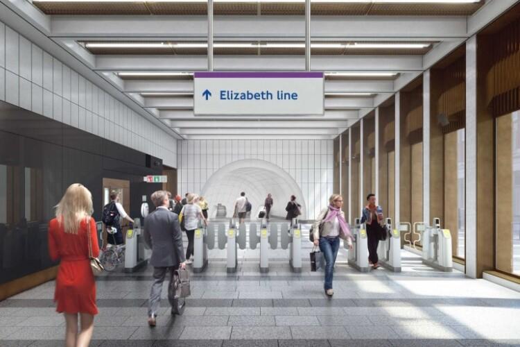Artist's impression of the new Bond Street station tickethall