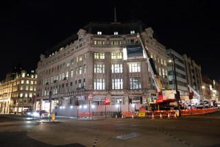 Main: Alitalia House on Oxford Circus. Inset: Bank of England