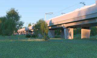 The 515-metre long Edgcote viaduct