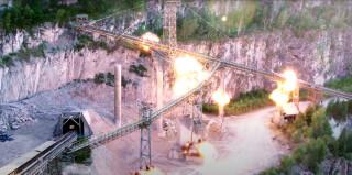 Conveyor belt explosion