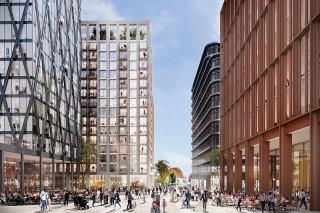 CGI of the future city quarter