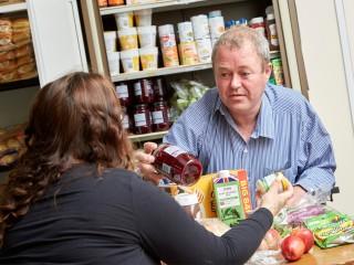 Robert Keane volunteering at the East Hull foodbank
