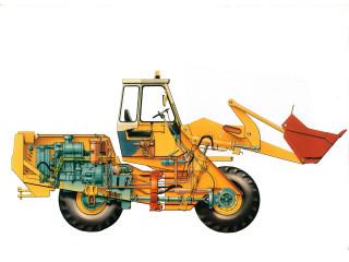 1972   the innovative centre pivot steer JCB 413