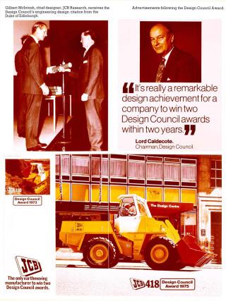 1975   the 418 won a design council award