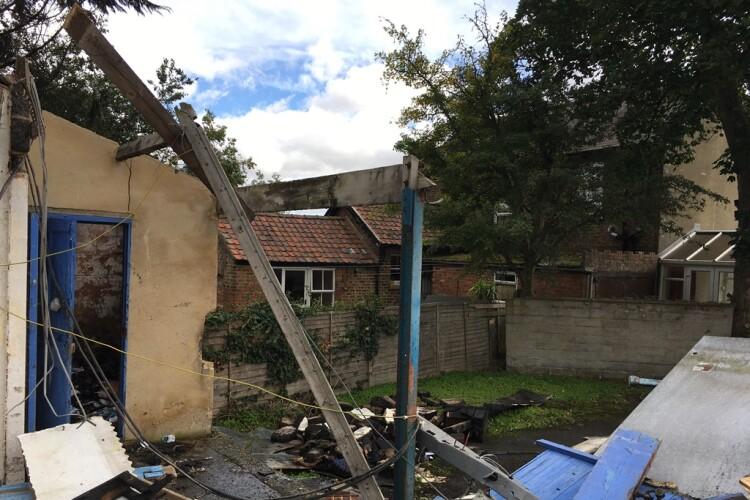 Walden Builders Ltd was demolishing an outbuilding near Ripon