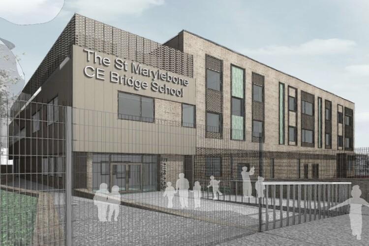 CGI of the new St Marylebone CE Bridge School that Galliford Try will build