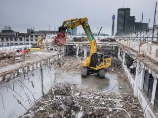 Demolition work on site is progressing
