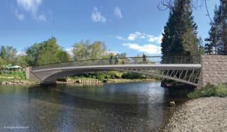 Knight Architects' CGI of the finished bridge Photo Knight Architects