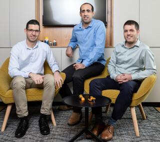 Buildots founders Aviv Leibovici, Yakir Sundry and Roy Danon (Photo: Eyal Toueg)
