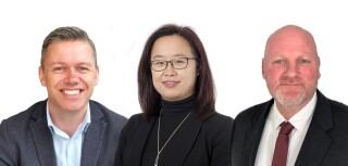 The new team - Simon Kydd, Bonnie Chu and Scott Machin