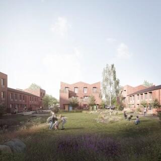 Artist's impression on the Duncombe Barracks development