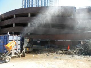 Inmalo's Dust-Boss DB60 working on a Keltbray demolition site