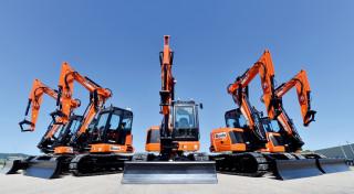 A consignment of JCB midi excavators destined for a Boels UK depot