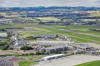 Edinburgh airport is rapidly expanding
