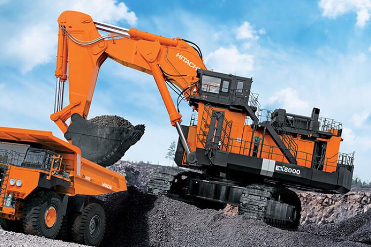 Hitachi quarrying machinery