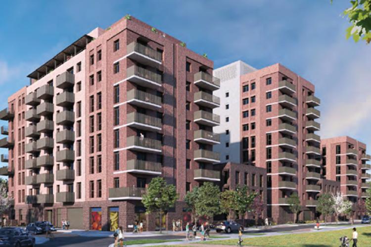 Wates will build five blocks of flats