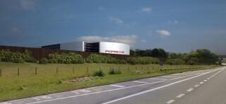 CGI of the planned showroom, north of Kellet Road in Carnforth