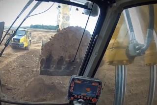 Excavator operator's view