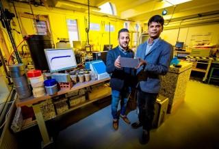 PhD student Saad Alqahtani (left) and Dr Karthikeyan Kandan