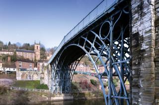 The Iron Bridge before works started. Photos: English Heritage