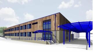 CGI of Queensmead School's new block