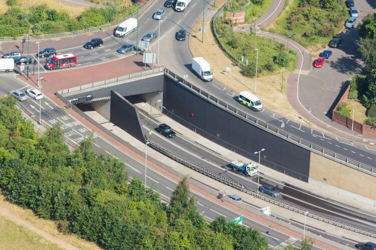 London's A12 Green Man Tunnel