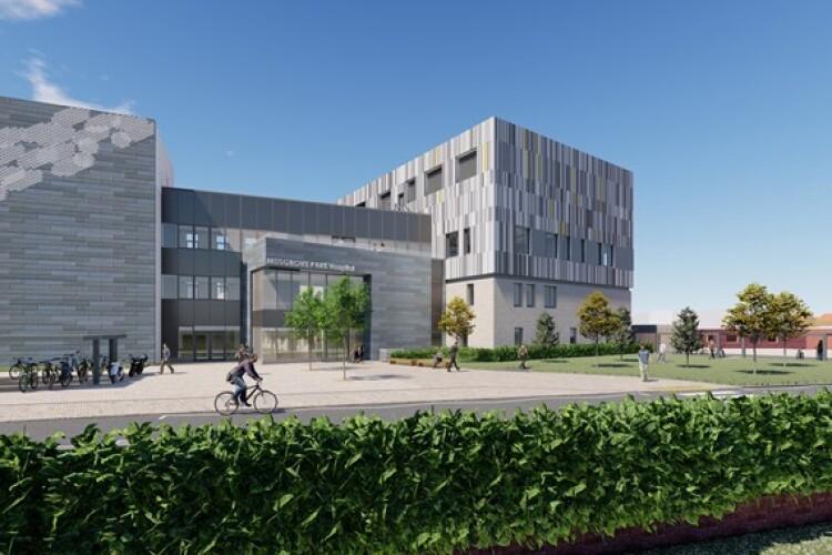 CGI of Musgrove Park Hospital's new surgical centre