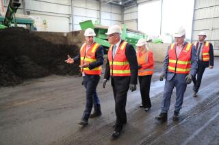 Downer's general manager, Reconomy, Jim Appleby showed Australian prime minister Scott Morrison around Downer's Rosehill processing plant last year