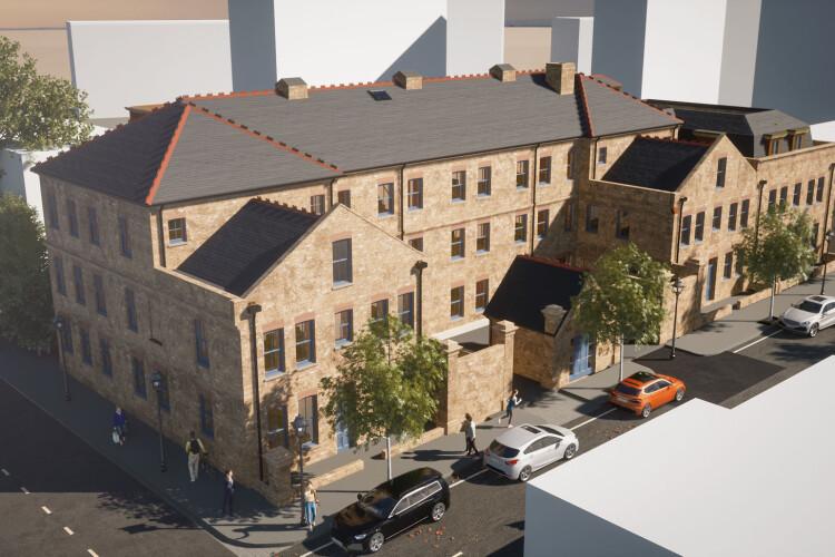 CGI of the Hewer Street development (and below)