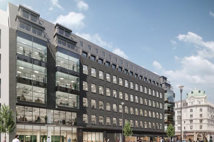 CGI of the revamped 72 Welbeck Street