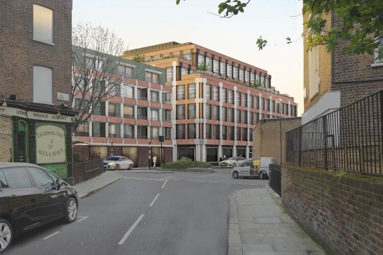 St Pancras Campus, as envisaged along Lyme Street