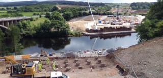 Lune west bridge abutments under construction