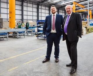 British Offsite managing director Shaun Weston (left) and Weston Group supremo Bob Weston